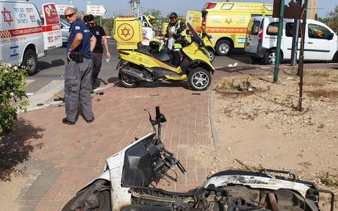 זירת התאונה בדרך רמתיים