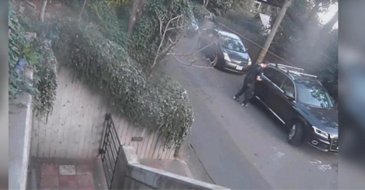 גנב רכב בפעולה