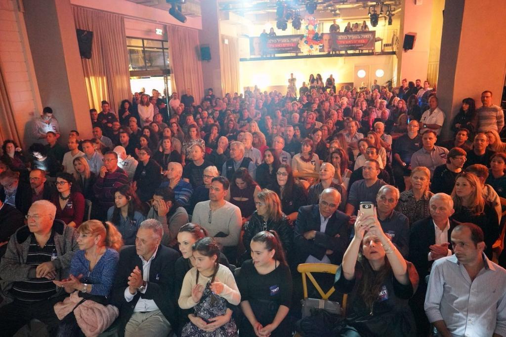 """מאות תושבים השתתפו בכנס של דואני. צילום: יח""""צ"""