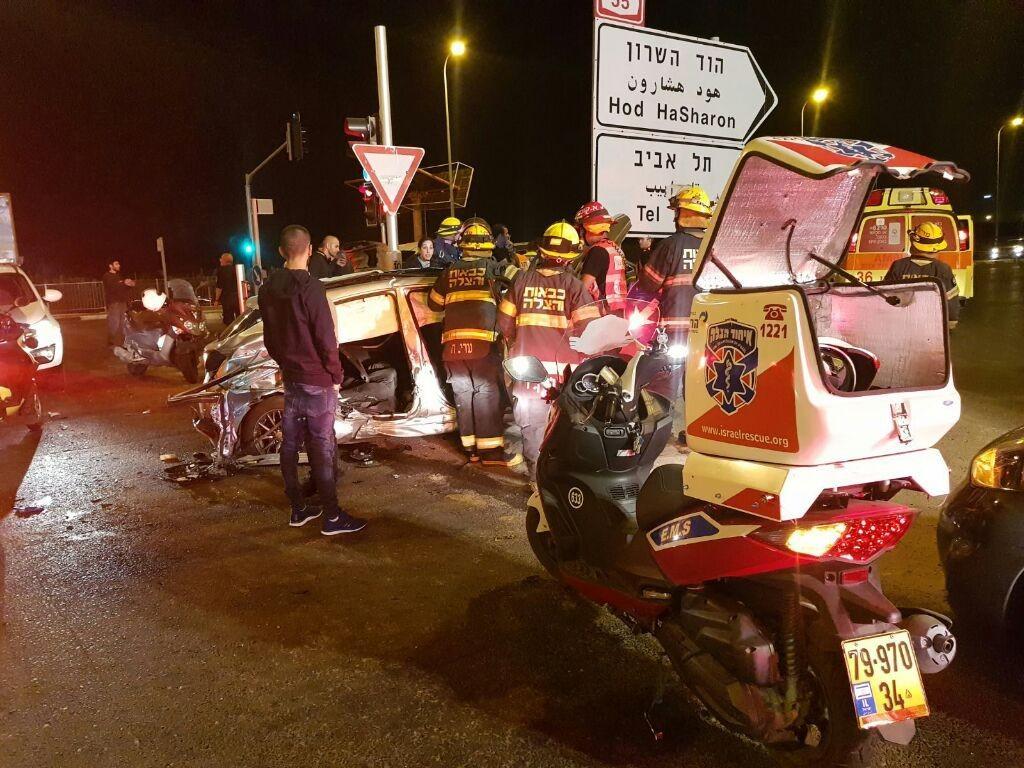 בת 23 נהרגה בתאונת דרכים בכביש 55 (צילום: דוברות איחוד הצלה)