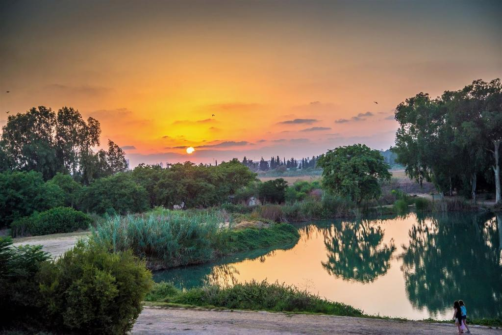 האגם ליד מבצר אנטיפטרוס. צילום: מנו גרינשפן, רשות הטבע והגנים