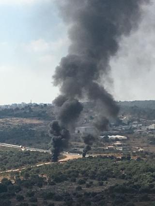 שריפת פסולת. צילום: אזרחים למען אוויר נקי