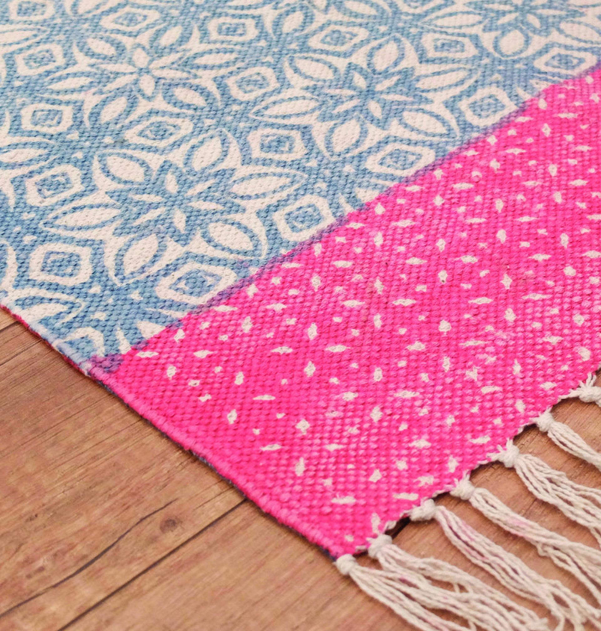 . שטיח 100 אחוז כותנה בהדפסה דו צדדית. giftedshop.co.il