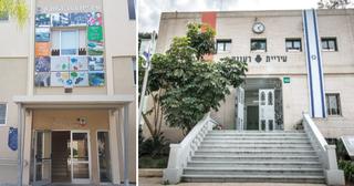 עיריית רעננה (מימין) ועיריית הוד השרון. לא מחוברים   צילומים: דוברות עיריית רעננה, אריאל ימיני