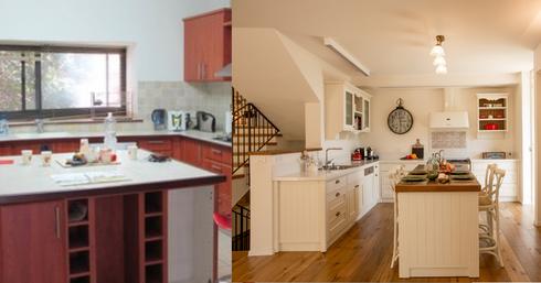 המטבח החדש מול הישן. שינוי יוצא דופן   צילומים: לירן שמש, פרטי