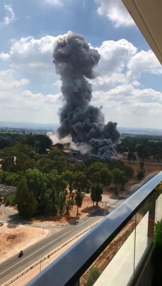 פיצוץ במפעל תעש. צילום: מתוך הרשת החברתית, נשמח לתת קרדיט לצלם